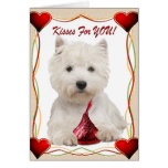 Westie Kisses For You Card