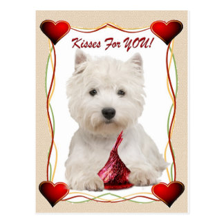 Westie Kisses For You Friendship cards