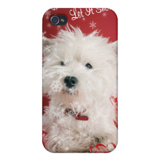 Westie Let It Snow! - Snowflake Holiday Design Case For The iPhone 4