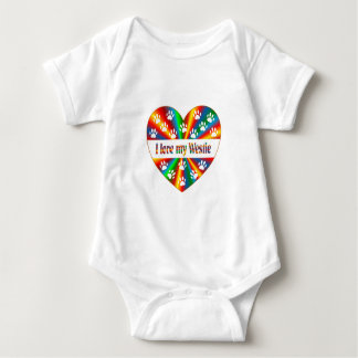 Westie Love Baby Bodysuit