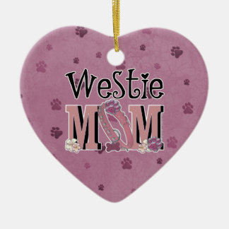 Westie MOM Ceramic Ornament