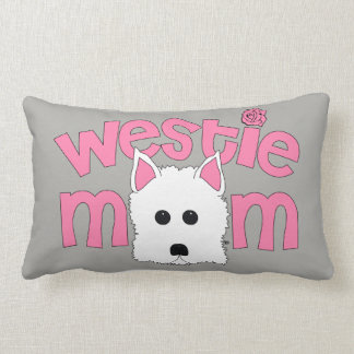 Westie Mom Fun Decorative Dog Lover's Throw Pillow