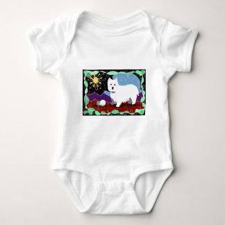 Westie Patchwork Baby Bodysuit