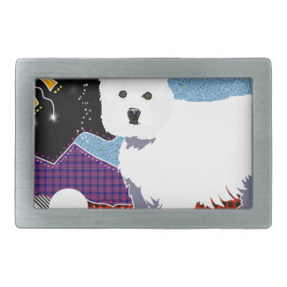 Westie Patchwork Belt Buckle