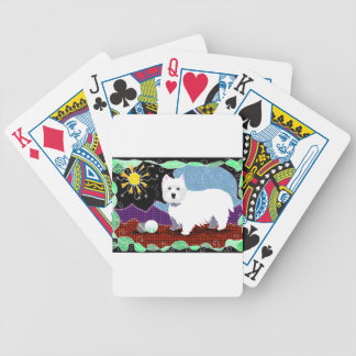 Westie Patchwork Bicycle Playing Cards