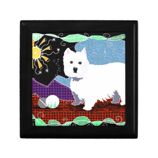 Westie Patchwork Gift Box