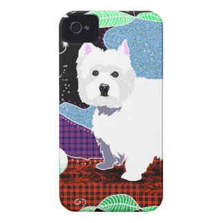 Westie Patchwork iPhone 4 Case-Mate Cases