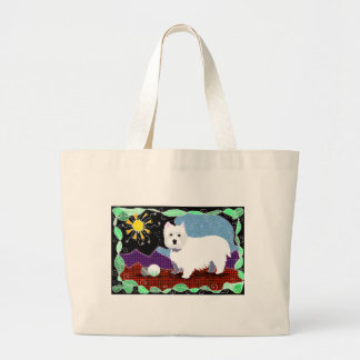 Westie Patchwork Large Tote Bag
