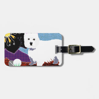 Westie Patchwork Luggage Tag