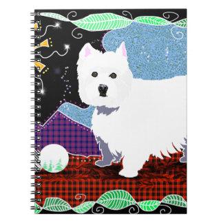 Westie Patchwork Notebooks