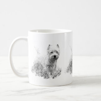Westie Playing Coffee Mug