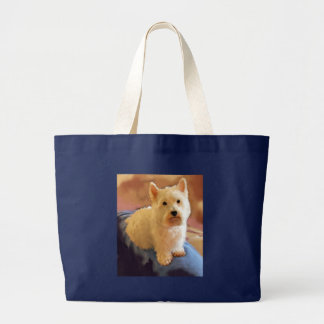 WESTIE POSE LARGE TOTE BAG