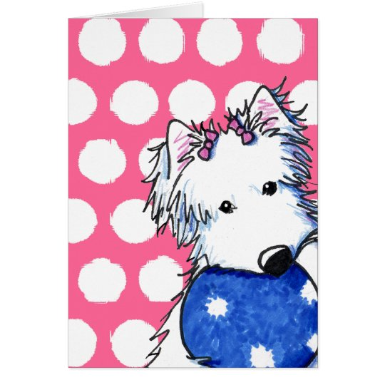 Westie Princess Of The Ball Card