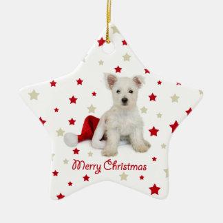 Westie Pup Christmas Tree Ornament
