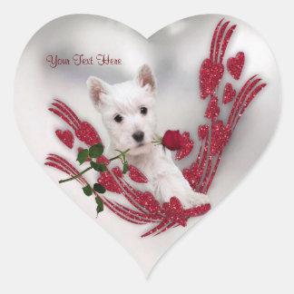 Westie Puppy Customizable Valentine Stickers