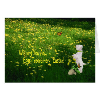 Westie Puppy Eggs -Traordinary Easter Wishes Card