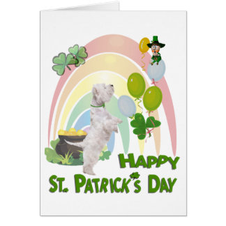 Westie Puppy - Irish Or Not, You're Liked A Lot! Card