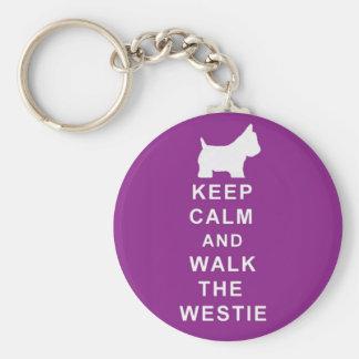 Westie purple keyring birthday christmas present