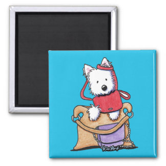 Westie Purse Issues Magnet