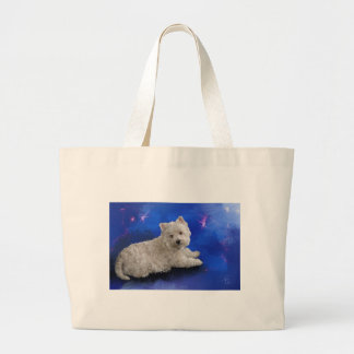 Westie Resting Large Tote Bag
