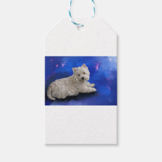 Westie Resting Pack Of Gift Tags
