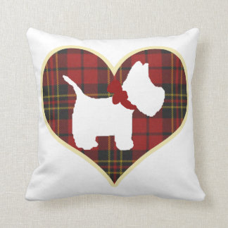 Westie Right Throw Pillow