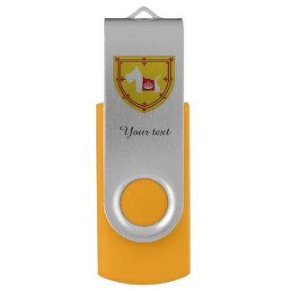 Westie Royal Crown Swivel USB 2.0 Flash Drive