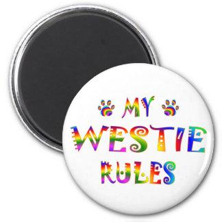 Westie Rules Fun Magnet