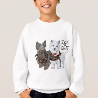 Westie Scottie Trick or Treat Sweatshirt