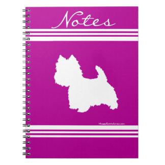 Westie Silhouette Note Book