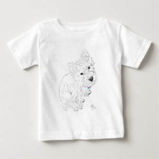 Westie siting at my feet baby T-Shirt