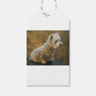 Westie sitting pack of gift tags