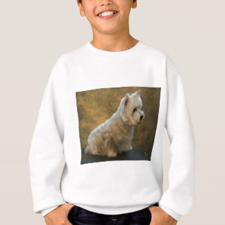 Westie sitting sweatshirt