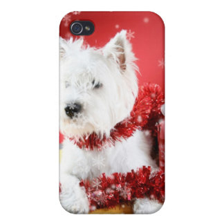 Westie Snowflake Holiday Design Cases For iPhone 4