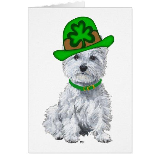 Westie St Patricks Day Card