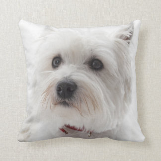 Westie Terrier Pup Pet Dog Throw Pillow Home Decor