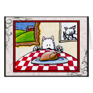 Westie Terrier Thanksgiving Greeting Card