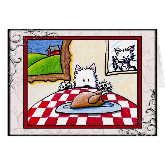 Westie Terrier Thanksgiving Greeting Card