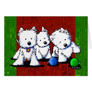 Westie Terrier Trio Christmas Cards