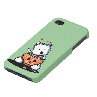 Westie Trick For Treat Cover For iPhone 4