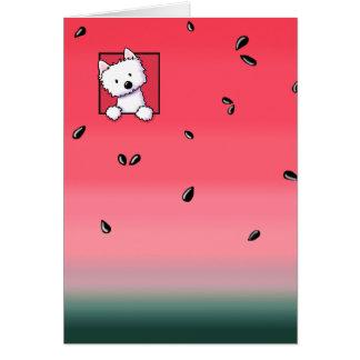 Westie Watermelon Card