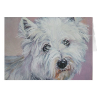 westie west highland terrier  christmas card