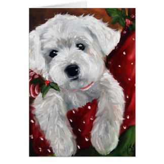 Westie west highland terrier dog christmas holiday card