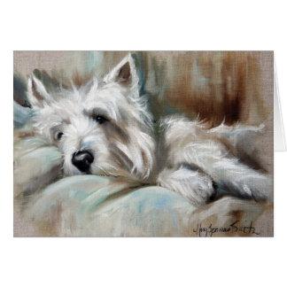 Westie West Highland Terrier Dog Puppy Art Card