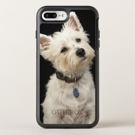 Westie (West Highland terrier) with collar OtterBox Symmetry iPhone 8 Plus/7 Plus Case