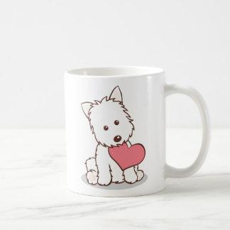 Westie with Heart Shape Mug