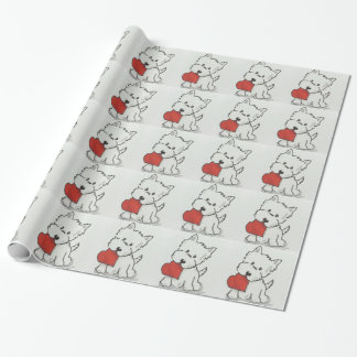 Westie With Heart Wrapping Paper