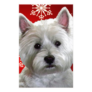 WESTIE WITH SNOWFLAKES CUSTOMIZED STATIONERY