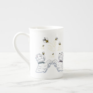 Westies and Bees Tea Cup