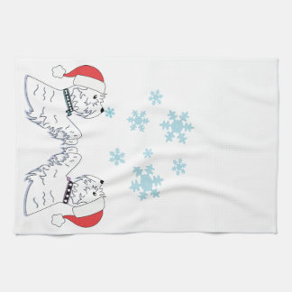 Westies and Snowflakes Kitchen Towel